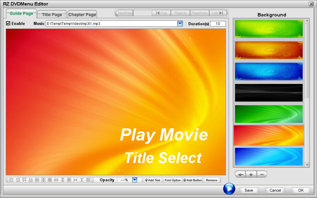 RZ DVD Creator Screenshot